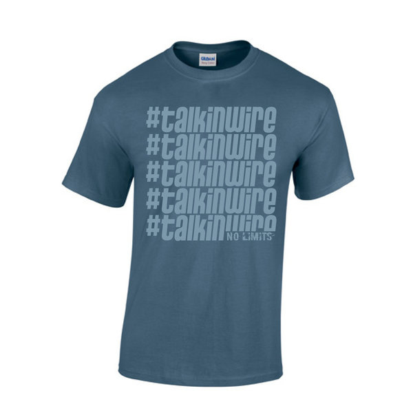 "T-Shirt ""#talkinwire"" - Indigo Blue"